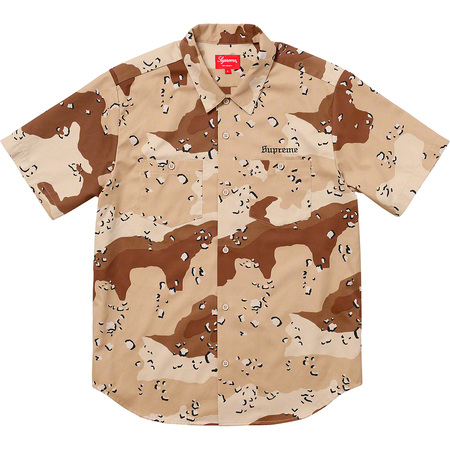Sekintani La Norihiro/Supreme Work Shirt (Chocolate Chip Camo)