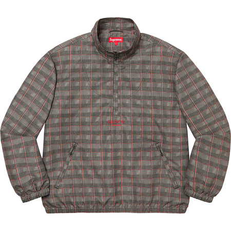 Track Half Zip Pullover (Tan Glen Plaid)