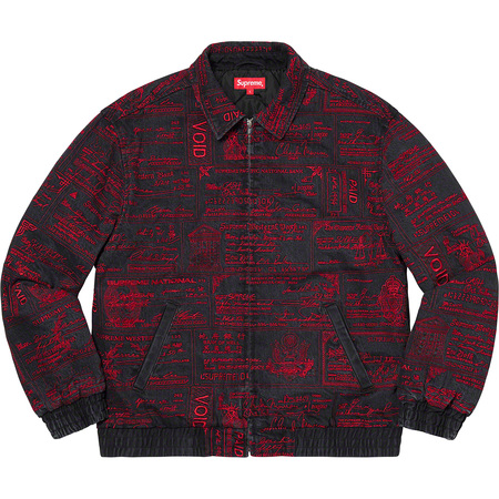 Checks Embroidered Denim Jacket (Black)
