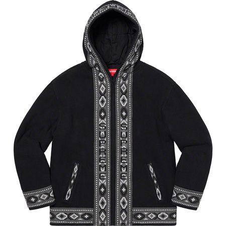 Woven Hooded Jacket (Black)