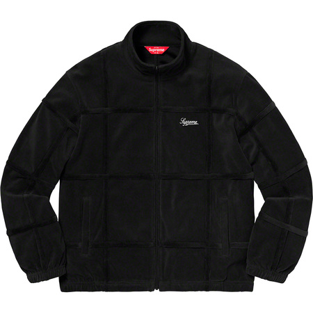 Grid Taping Velour Jacket (Black)