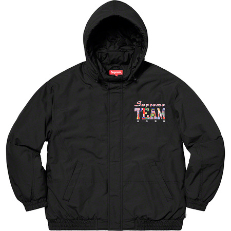 Supreme Team Puffy Jacket (Black)