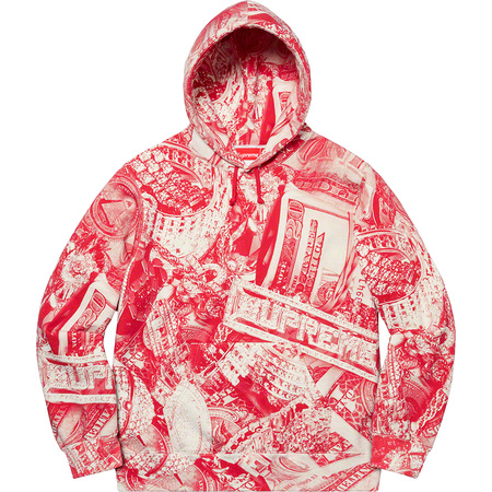 Bling Hooded Sweatshirt (Red)