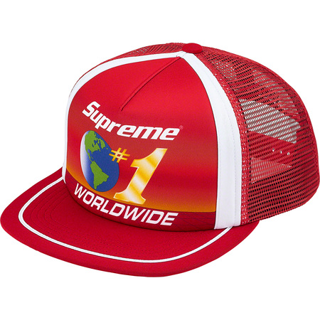 Worldwide Mesh Back 5-Panel (Red)