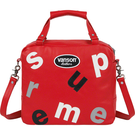 Supreme®/Vanson Leathers® Letters Bag (Red)