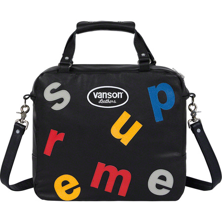 Supreme®/Vanson Leathers® Letters Bag (Black)