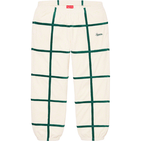 Grid Taping Velour Pant (Off-White)