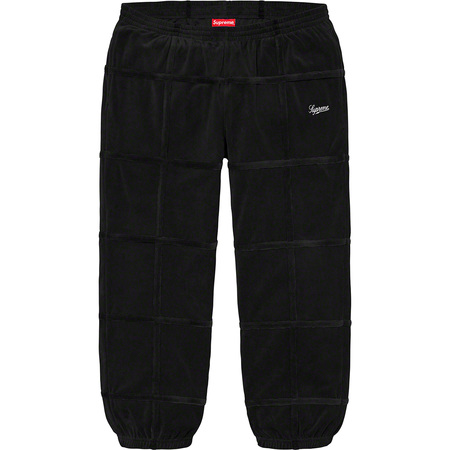 Grid Taping Velour Pant (Black)