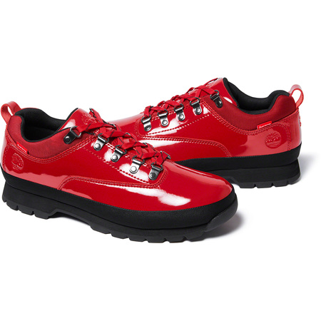 Supreme®/Timberland® Patent Leather Euro Hiker Low (Red)