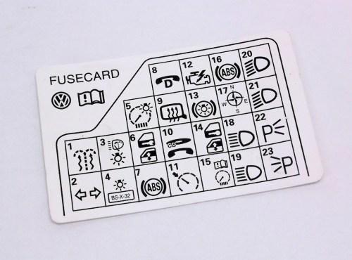 small resolution of fuse panel diagram key card 98 05 vw passat b5 genuine 3b0 010 241 f