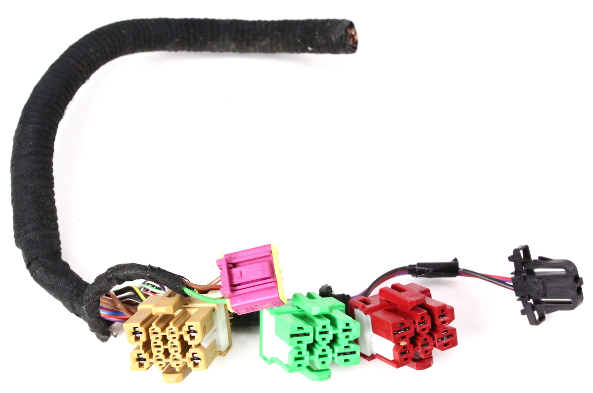 hight resolution of lh front under seat wiring plugs pigtail connectors 02 04 audi a6 c5 carparts4sale inc