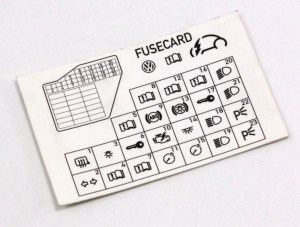 Dash Fuse Box Diagram Card VW Beetle 9810  1C0 010 232 K