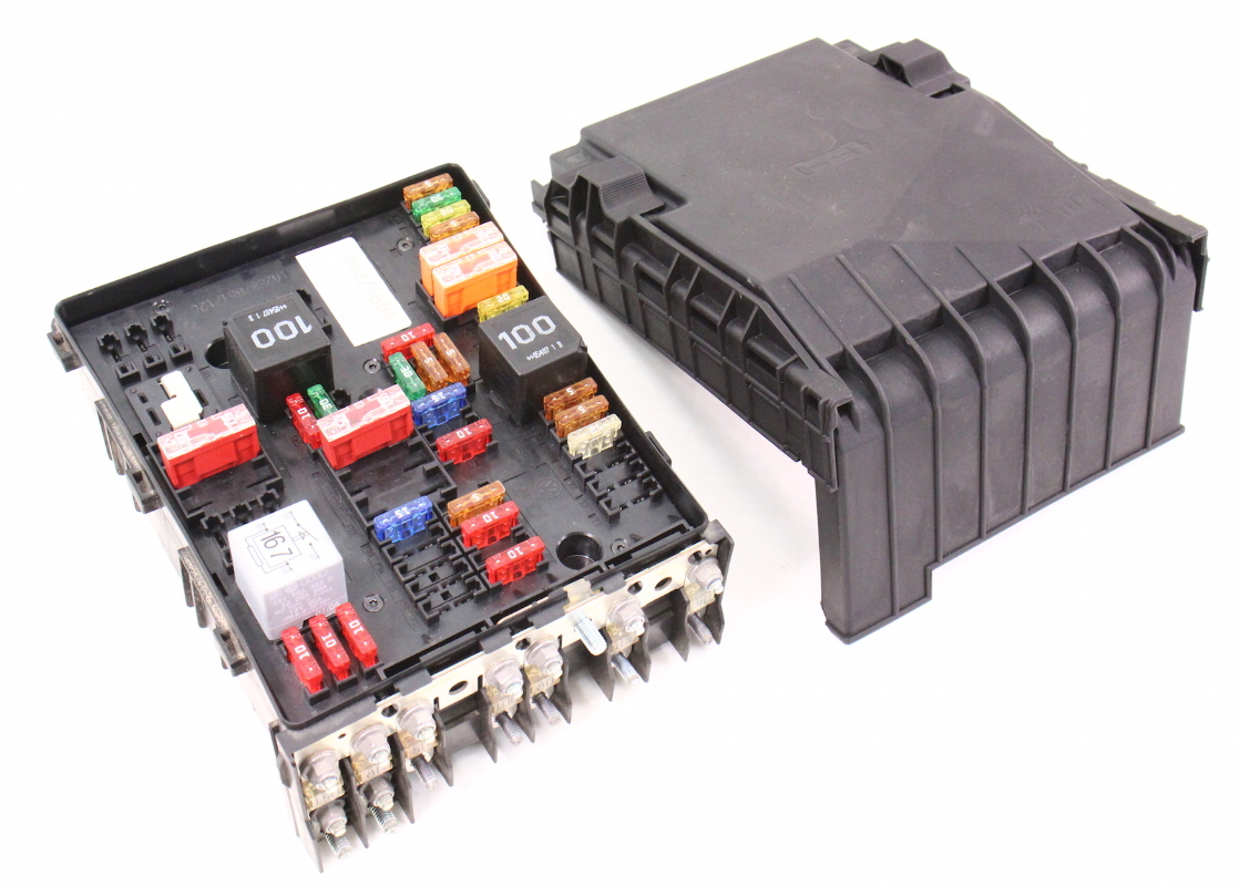 98 audi a4 fuse diagram transfer switch wiring engine bay relay box 06-08 vw passat b6 2.0t - genuine 1k0 937 124 k | carparts4sale, inc.