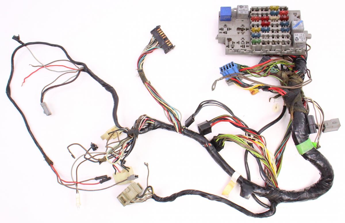 hight resolution of dash interior wiring harness amp fuse box 81 84 vw rabbit