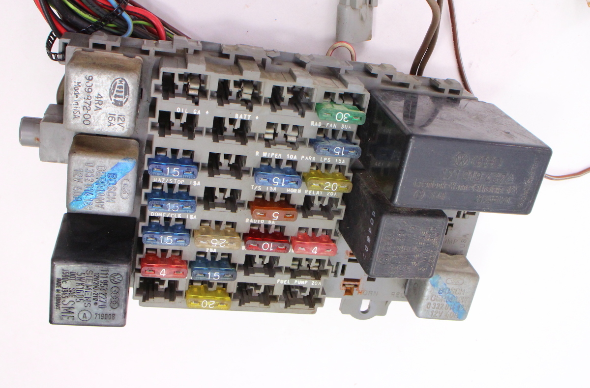 hight resolution of dash interior wiring harness fuse box 81 84 vw rabbit