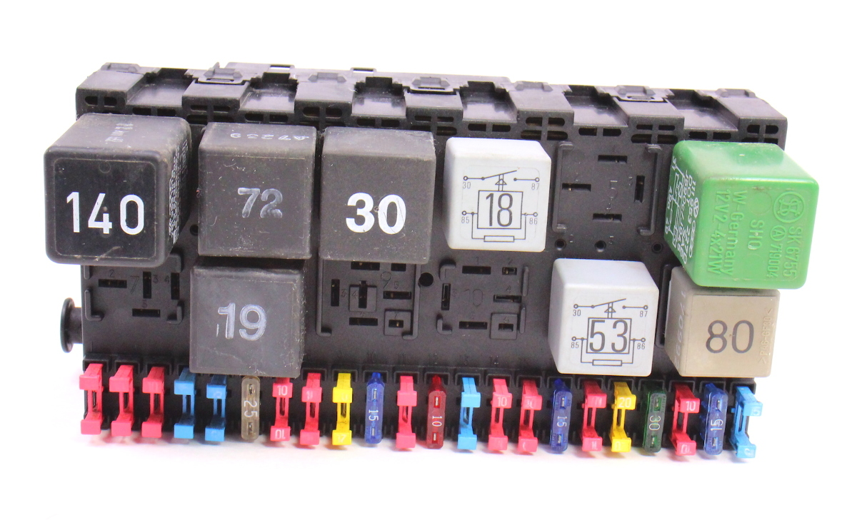 hight resolution of fuse box fuse block fusebox relays 92 96 vw eurovan t4 ce2 357 937 039 carparts4sale inc