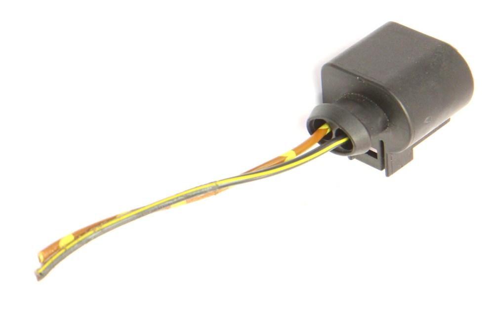 medium resolution of  2 pin pigtail wiring harness plug vw audi jetta golf gti mk6 passat 1k0 973 722