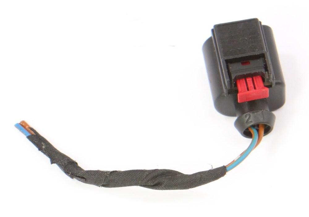 medium resolution of  2 pin pigtail wiring harness plug vw audi jetta golf gti mk6 eos 8k0 973