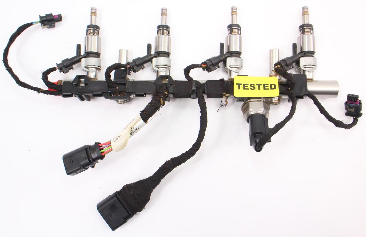 hight resolution of fuel injector set rail wiring harness 15 18 vw jetta mk6 1 8t 06l 971 627 l carparts4sale inc