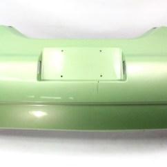 Mk1 Golf Gti Fuse Box Wiring Diagram Paxton Door Access Rear Bumper Cover 99-05 Vw Beetle - Lg6v Cyber Green Genuine 1c0 807 421 J