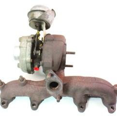 2001 Vw Beetle Alternator Wiring Diagram 3 Circle Venn Worksheet 1.9 Tdi Alh Turbocharger 01-04 Jetta Golf Mk4 Turbo ~ 038 253 019 C