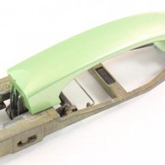 Vw Golf Mk4 Tow Bar Wiring Diagram For Car Electric Windows Front Exterior Door Handle 98-10 Beetle - Lg6v Cyber Green Metallic