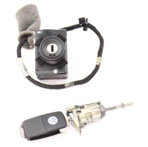 Ignition Key Door Handle Lock Set 0406 VW Phaeton