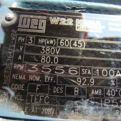 Weg W22 Motor Wiring Diagram Trs Xlr Nameplate Impremedia