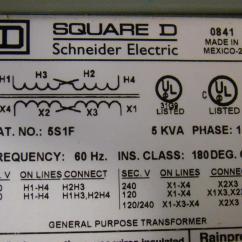 480 To 240 Volt Transformer Wiring Diagram 2006 Nissan Pathfinder Engine Square D 5 Kva Ph1 X 120 5s1f Ebay