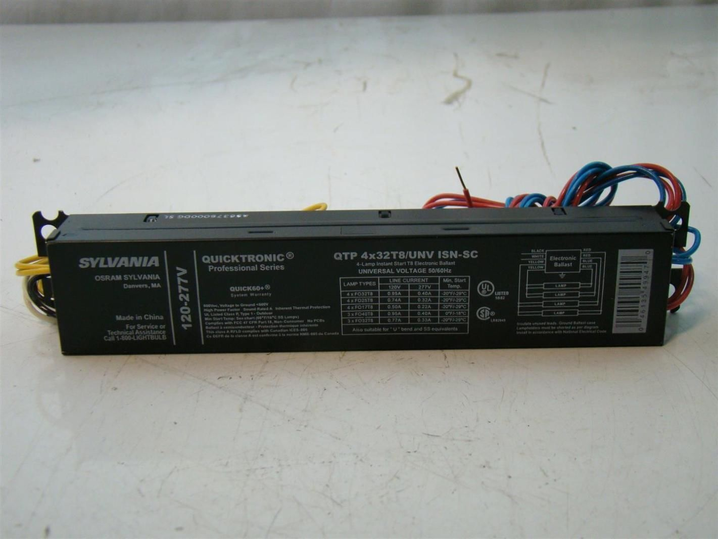 Sylvania T8 Ballast Wiring Diagram