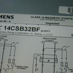 3ph Motor Wiring Diagram Nerve Cell Blank Siemens Heavy Duty Starter Class 14 Magnetic