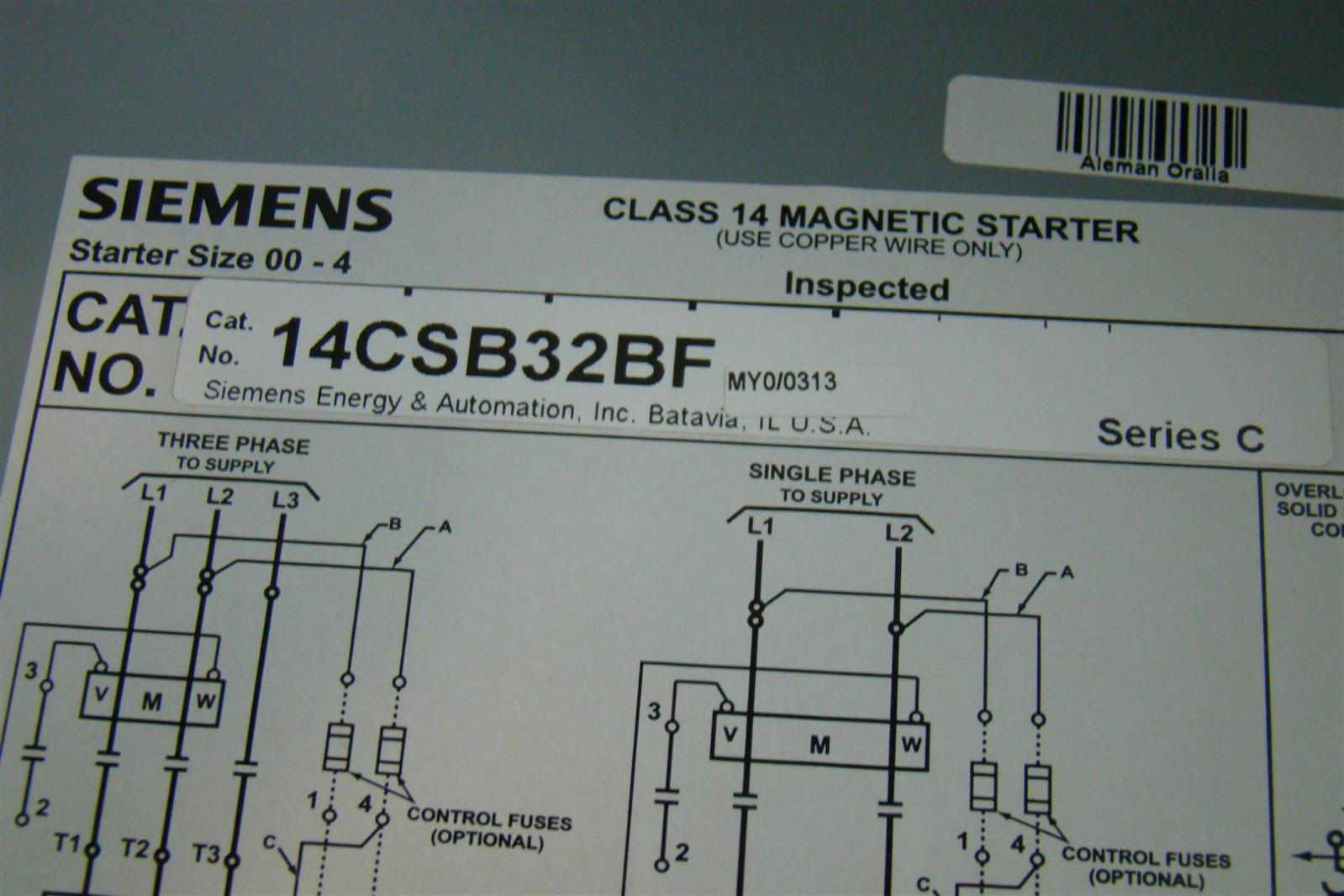 siemens motor wiring diagram jeep tj manual heavy duty starter class 14 magnetic