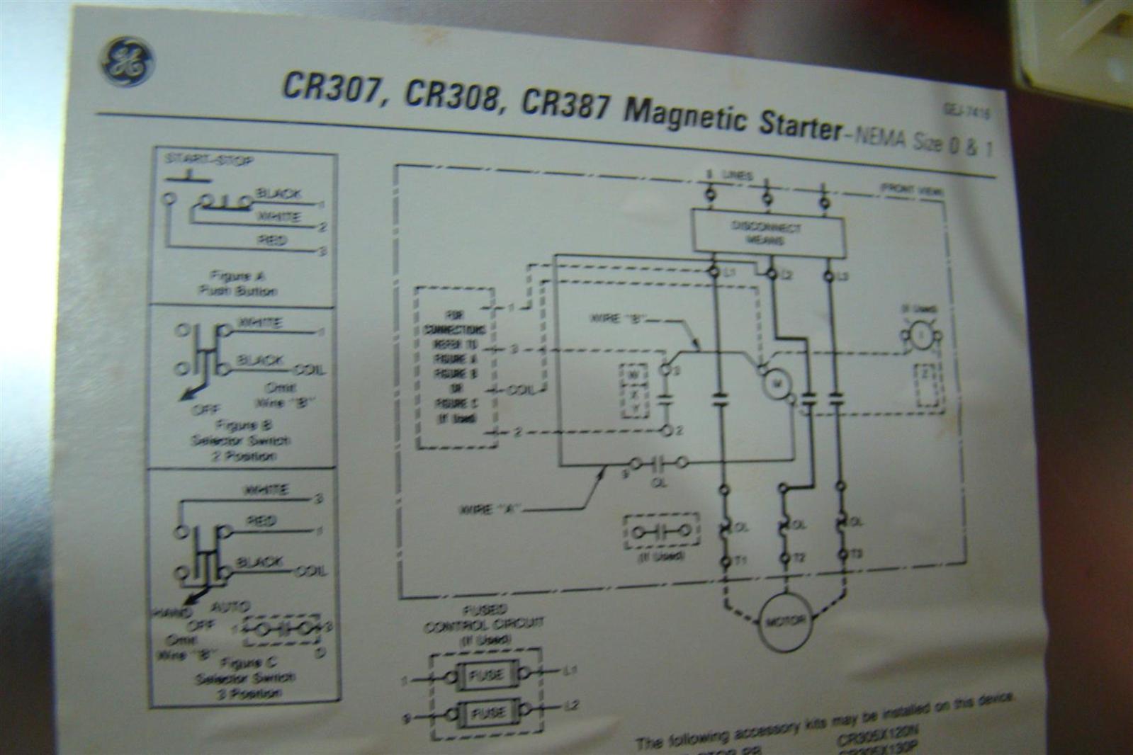 stunning general electric motors wiring diagram photos GE Motor Starter Wiring On and Off  GE 300 Line Motor Starters GE 8 000 Motor Starter Wiring Diagram Engine Starter Wiring