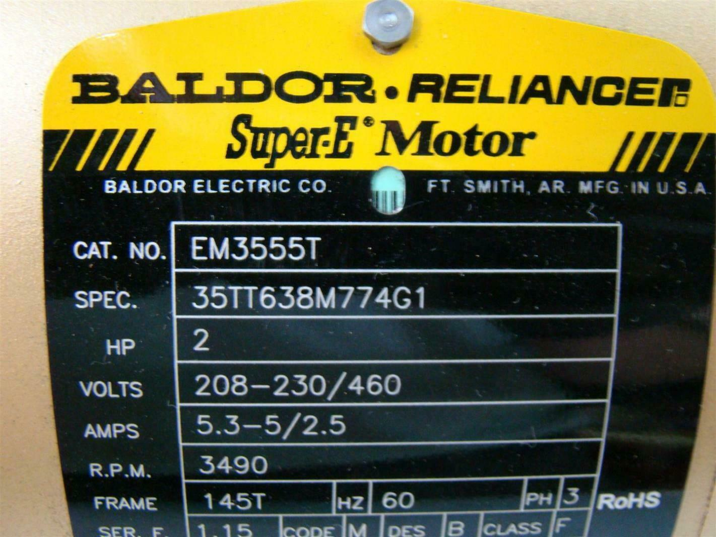 hight resolution of agh169 baldor reliance super e motor 2hp 208 230 460v 53 5 25amps baldor reliance motor wiring diagram