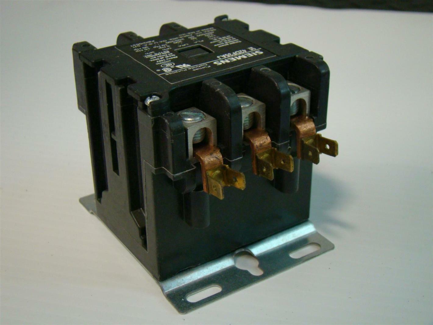 2 pole definite purpose contactor wiring diagram air horn with relay siemens furnas 42df35aj 50a 3