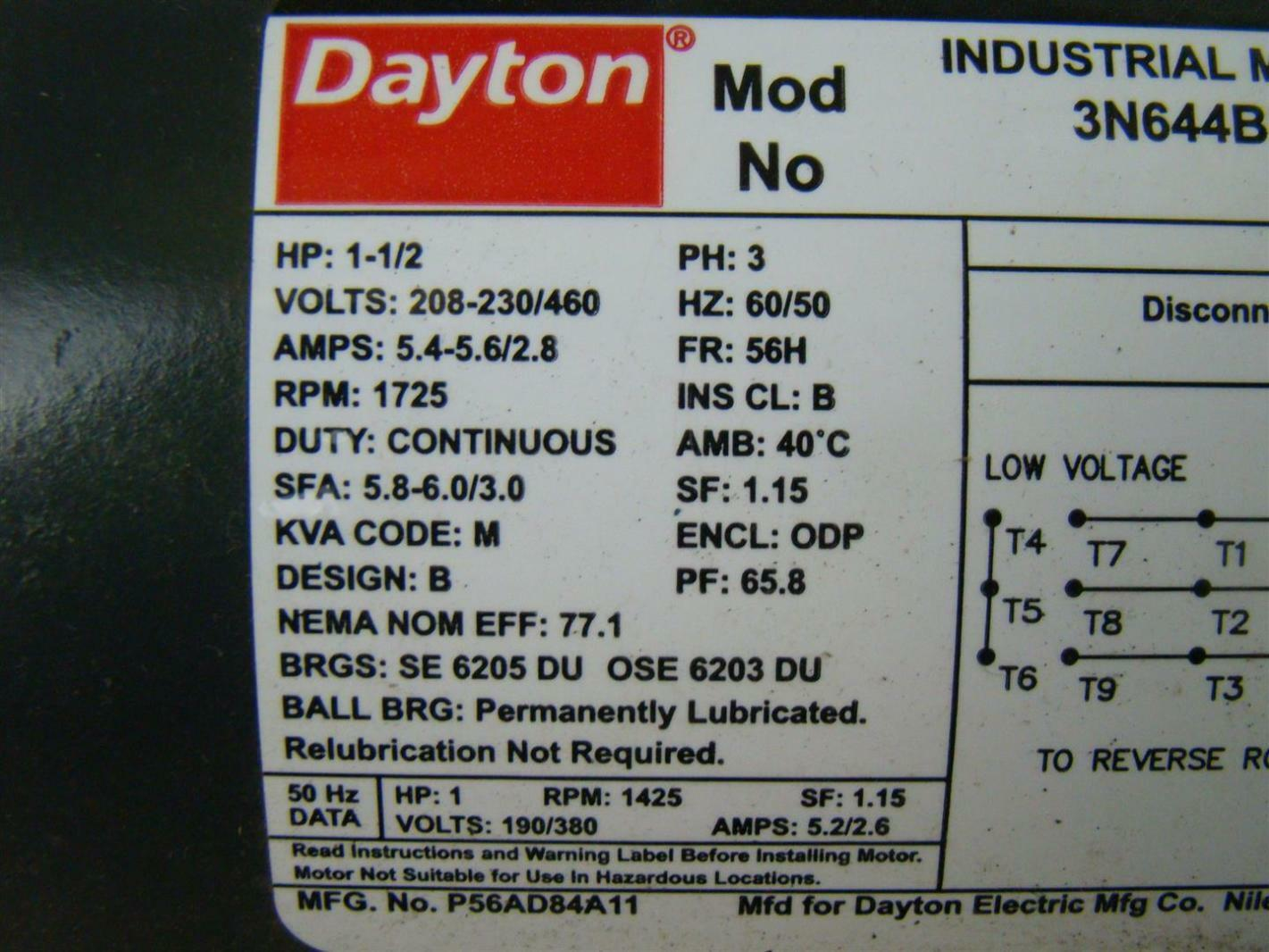 Dayton Blower Motor Wiring Diagram On Dayton 1 3 Hp Motor Wiring