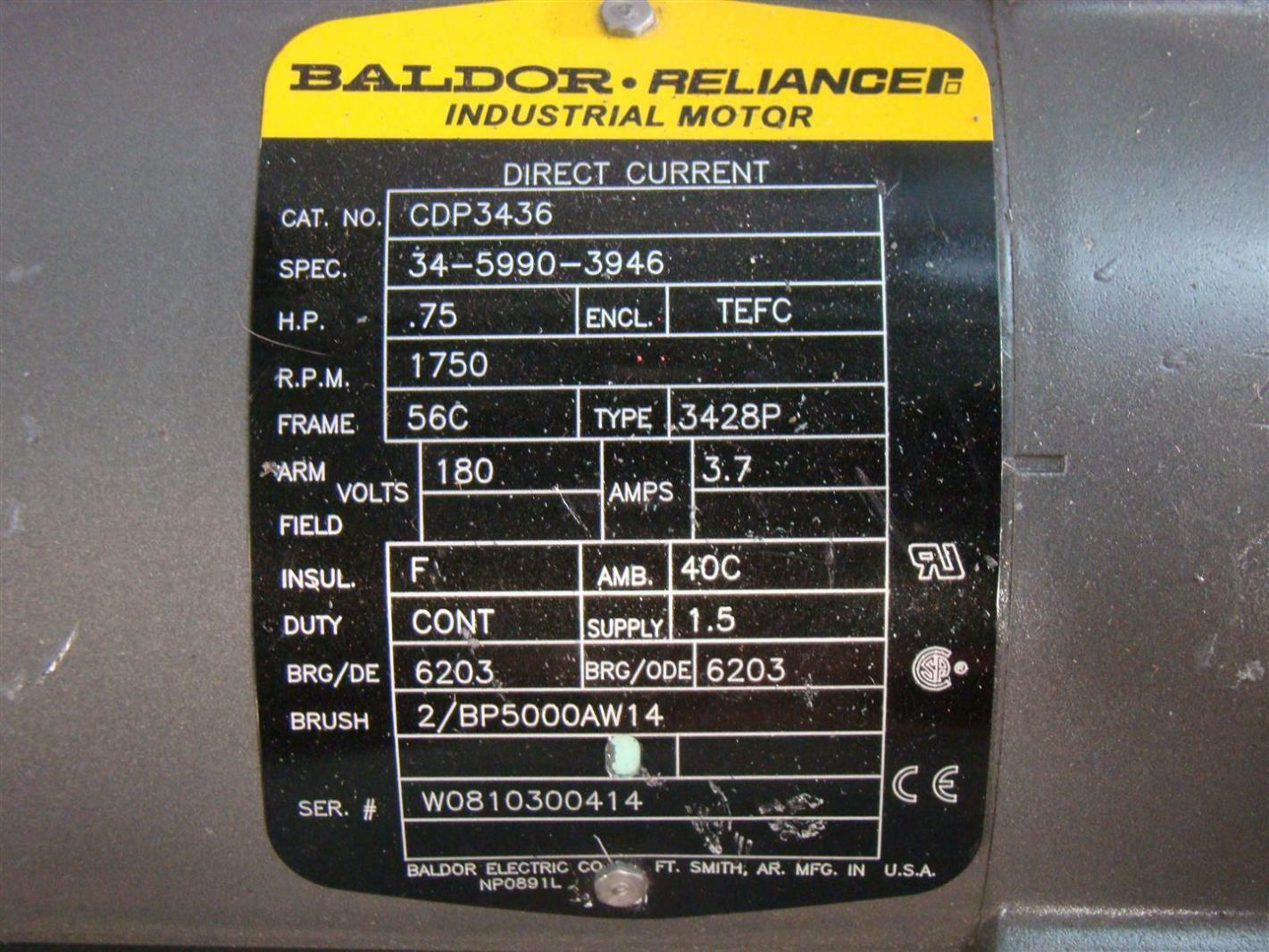 baldor 10 hp electric motor wiring diagram 3 circle venn pdf reliancer dc 75hp 1750rpm 180v cdp3436