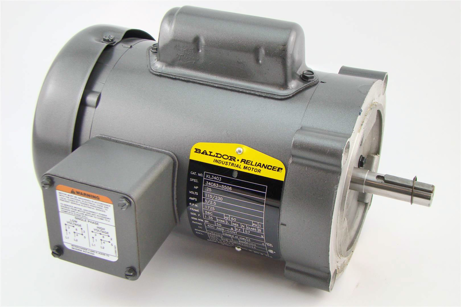 baldor single phase 230v motor wiring diagram msd ignition digital 6a anleitung reliancer industrial 25hp 115