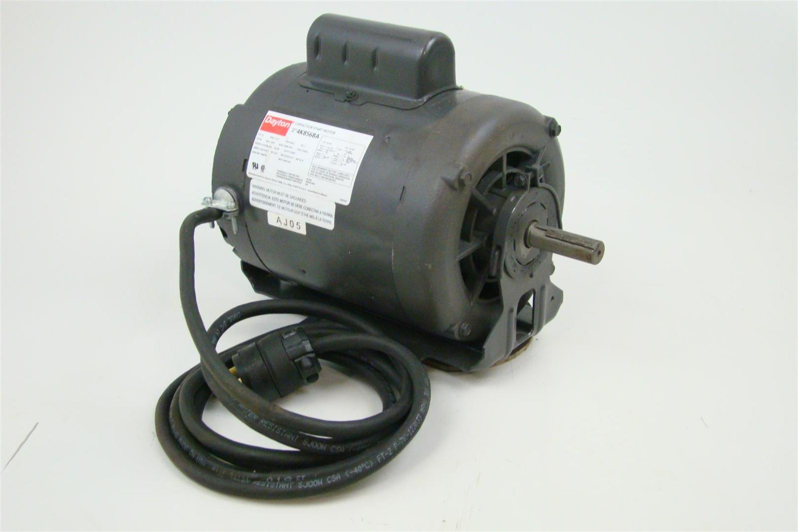 hight resolution of dayton single phase 1 2hp capacitor start motor 1725 rpm 115 208