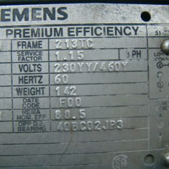 Siemens Motor Wiring Diagram Pots Telephone 7 5hp Electric 230 460 R6zesd Metpro Pump