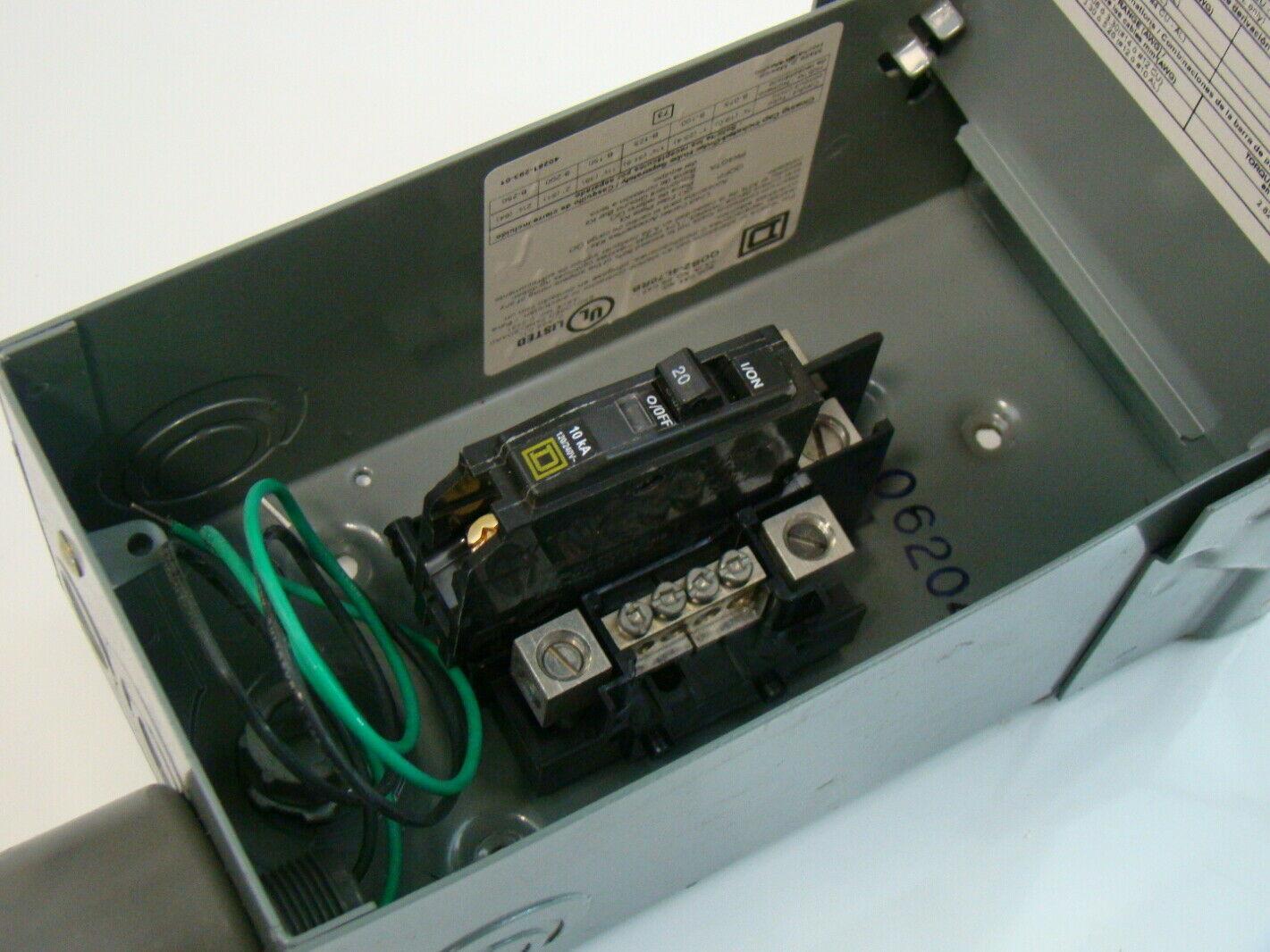 Electric Meter Wiring Heat Square D 70a Qo Load Center Qo2 4l70rb Ebay