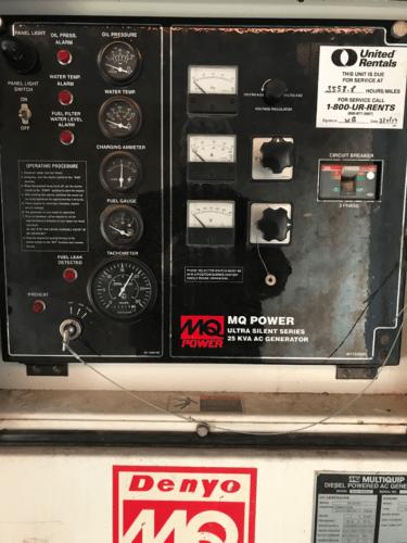 hight resolution of  multiquip 25kva diesel powered ac generator 1ph 3ph