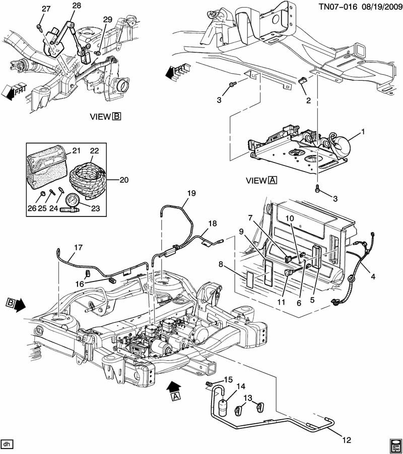 GM Air Ride Suspension Level Pump Switch 2004-2009
