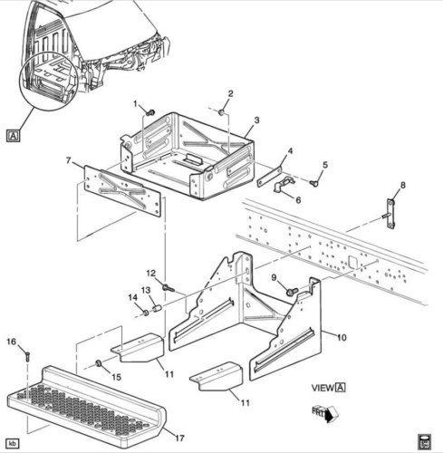 Front Door Step Lh/rh Sliding Dual Battery Tray Running