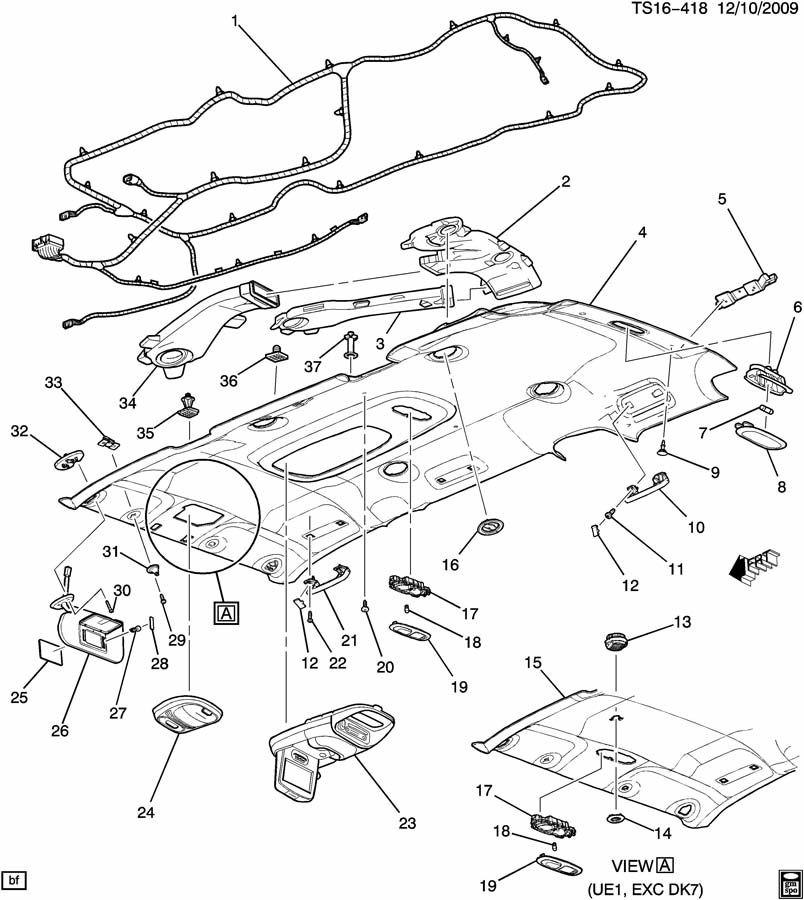 2005-2012 GM A/C Vent Air Deflector Light Opel Color