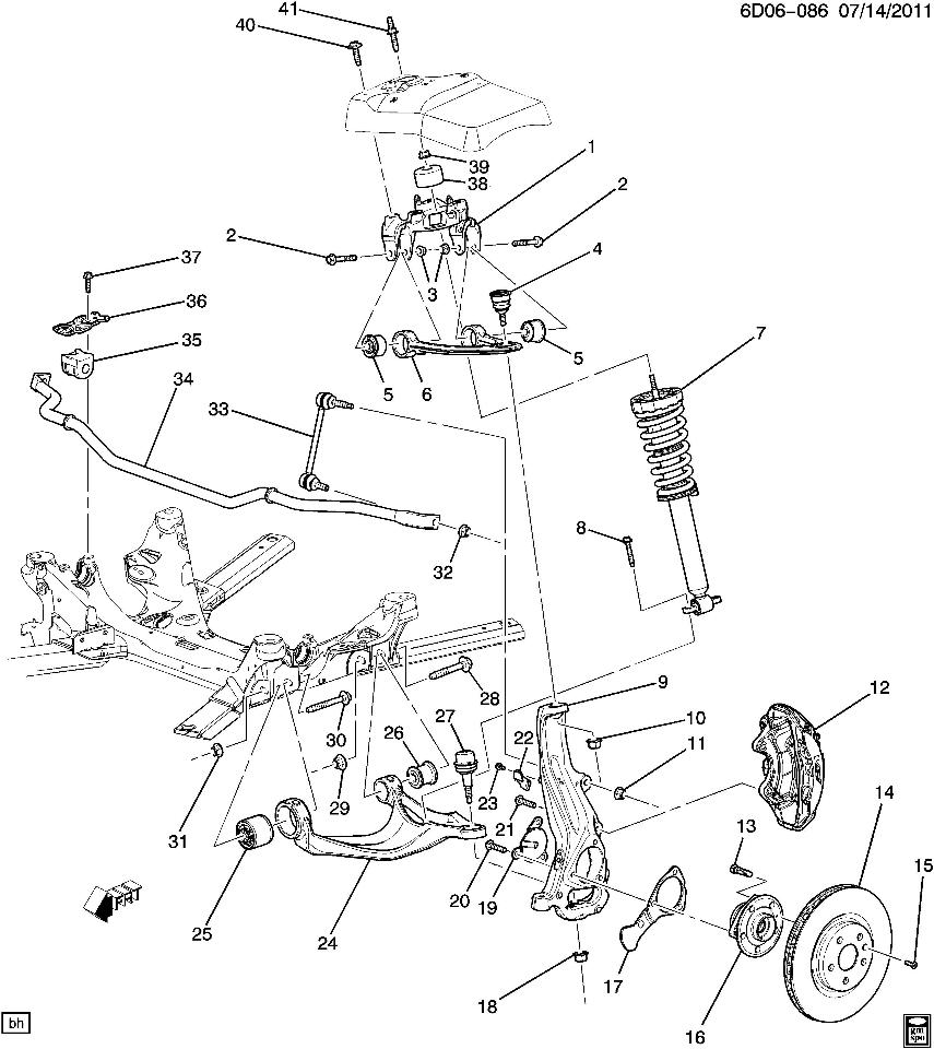2008 cadillac escalade engine diagram