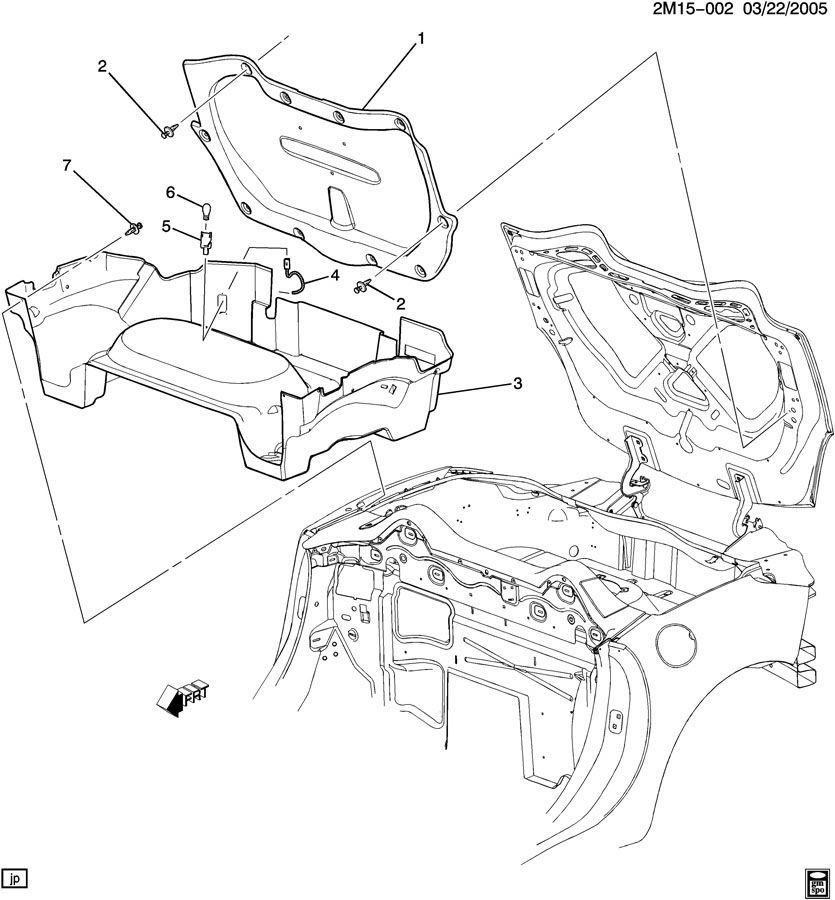 2007-2010 Saturn Sky Rear Compartment Bottom Carpet Liner