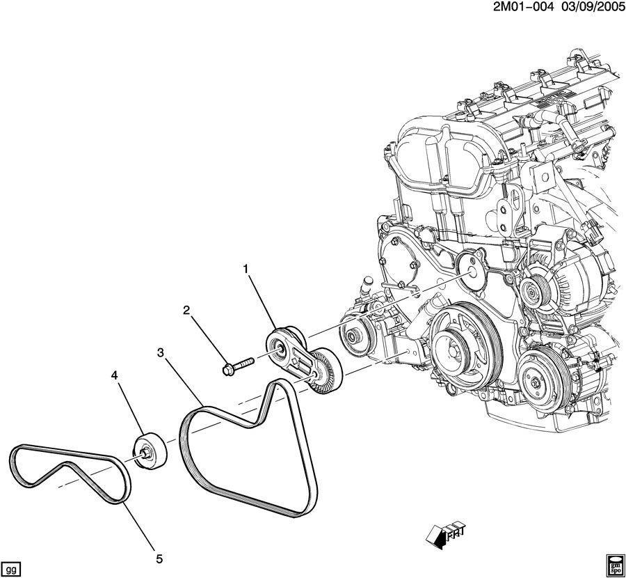 Gm Drive Serpentine Belt Pontiac Solstice Ion W/O Ac