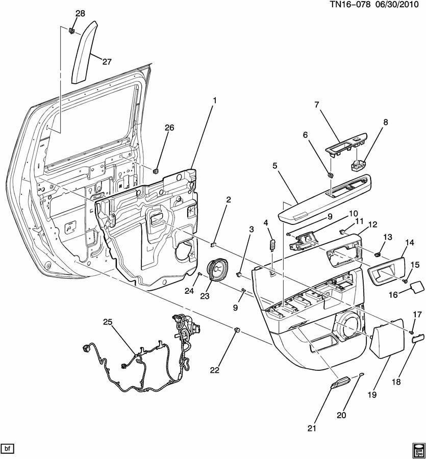 08-09 Hummer H2 Door Handle Armrest Trim Plug Brick Orange