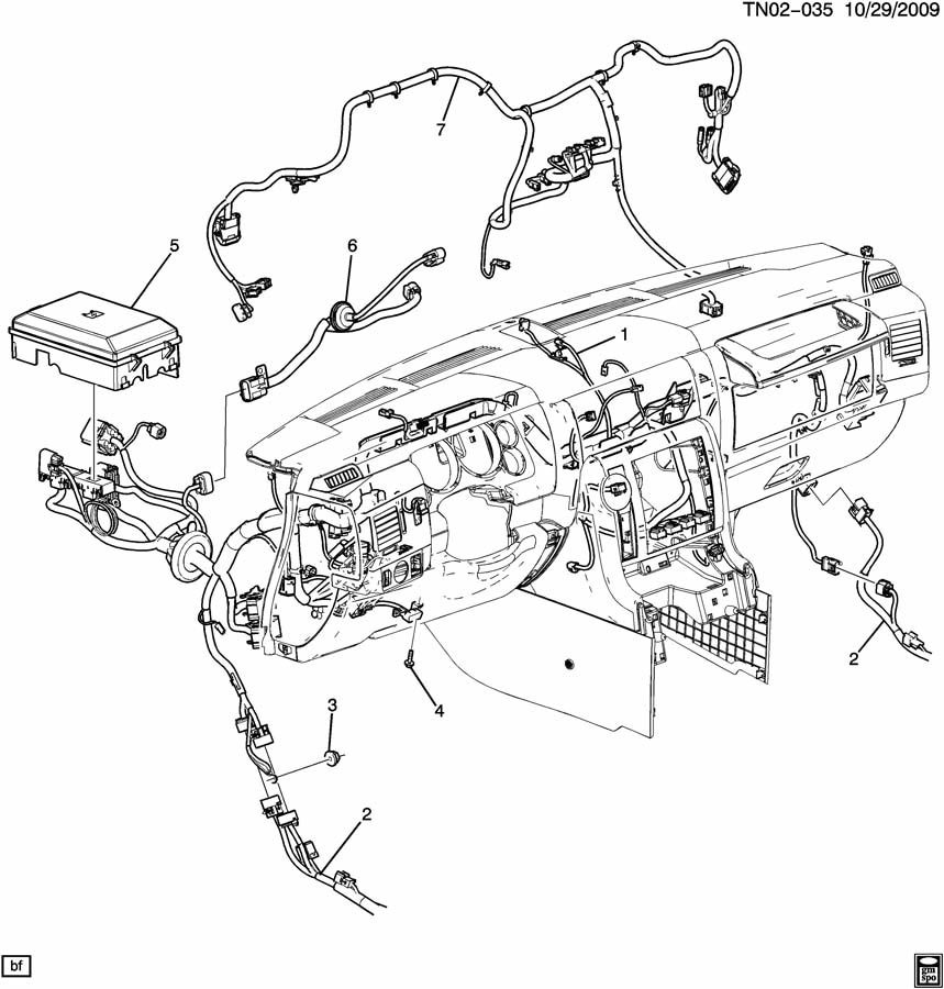 Details about 2008 Hummer H2 SUV SUT Dash Chassis Wiring